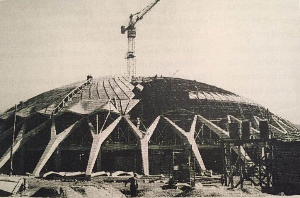 Palazzetto dello Sport in construction